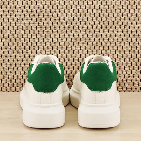 Sneakers alb cu verde Madison [5]