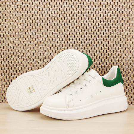 Sneakers alb cu verde Madison [7]