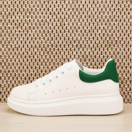 Sneakers alb cu verde Madison [1]