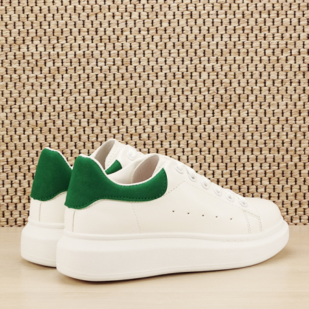 Sneakers alb cu verde Madison [4]