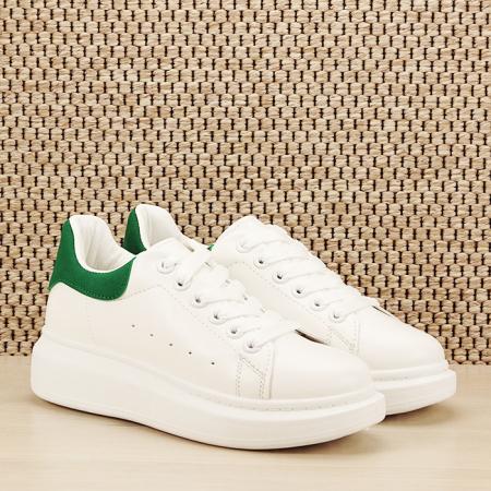 Sneakers alb cu verde Madison [2]