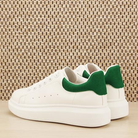 Sneakers alb cu verde Madison [3]