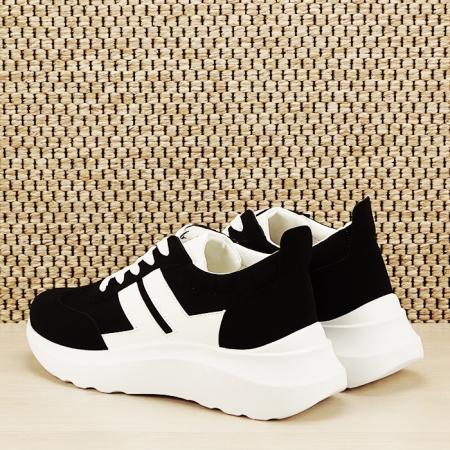 Sneakers alb/negru Calista [3]