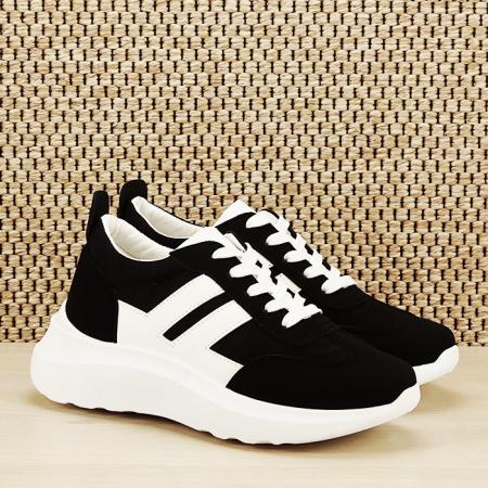 Sneakers alb/negru Calista [2]