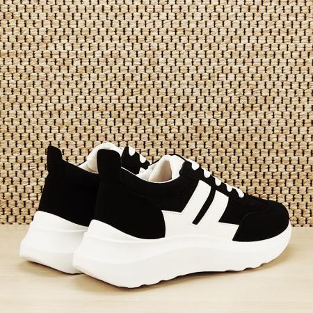 Sneakers alb/negru Calista [4]