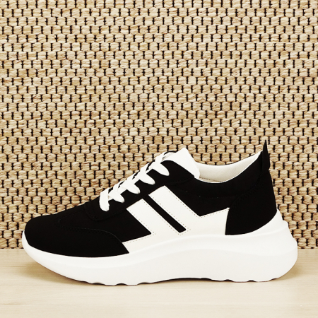 Sneakers alb/negru Calista [0]