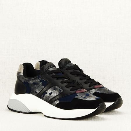 Sneakers albastru cu negru Ania3