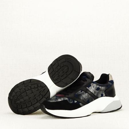 Sneakers albastru cu negru Ania7