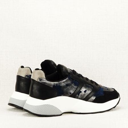 Sneakers albastru cu negru Ania4
