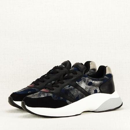 Sneakers albastru cu negru Ania2