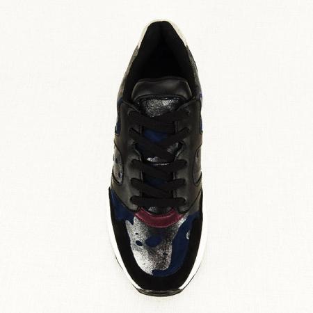 Sneakers albastru cu negru Ania1
