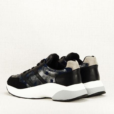 Sneakers albastru cu negru Ania5