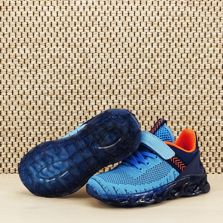 Sneakers copii cu leduri albastru Kim [7]