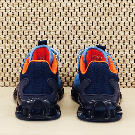 Sneakers copii cu leduri albastru Kim [5]