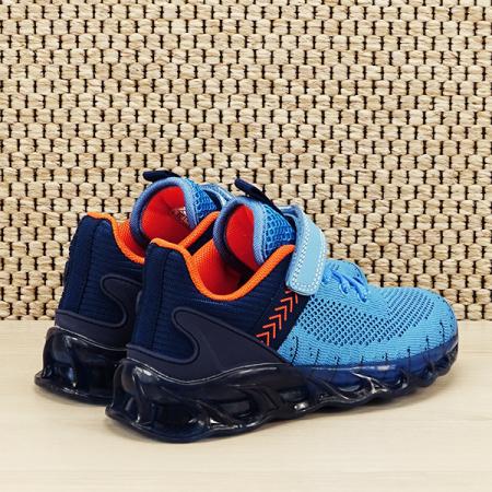 Sneakers copii cu leduri albastru Kim [4]