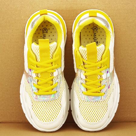 Sneakers albi cu galben Taylor1