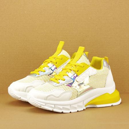 Sneakers albi cu galben Taylor5