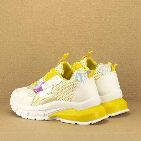 Sneakers albi cu galben Taylor3