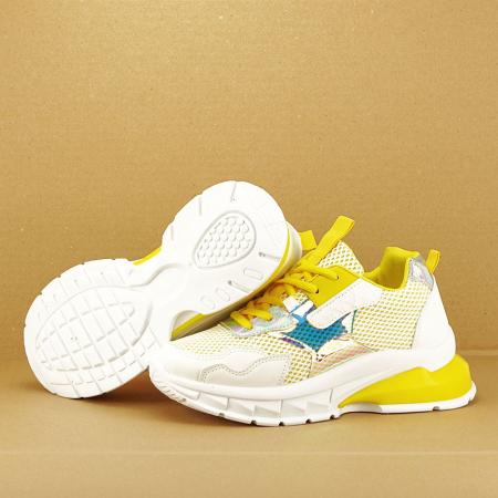 Sneakers albi cu galben Taylor6