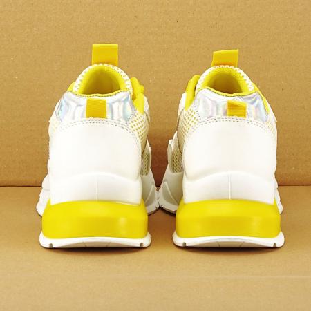 Sneakers albi cu galben Taylor4