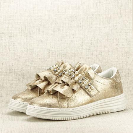 Sneakers auriu cu perle Gloria [2]
