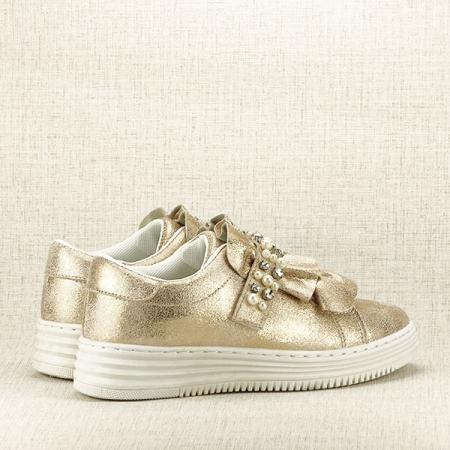 Sneakers auriu cu perle Gloria [5]
