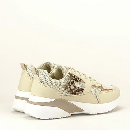 Sneakers bej Fabia [5]