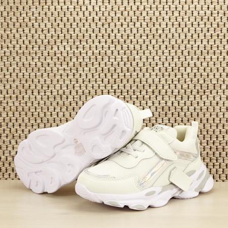 Sneakers copii alb Hannah [7]