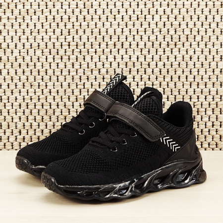 Sneakers copii cu leduri negru Kim [1]