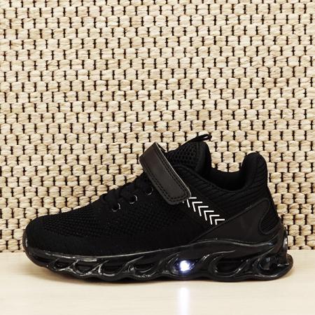 Sneakers copii cu leduri negru Kim [0]