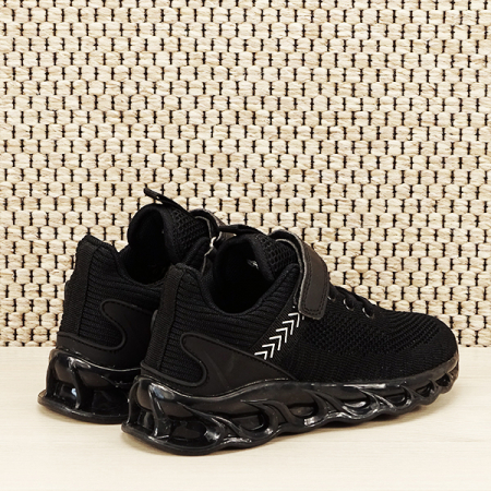 Sneakers copii cu leduri negru Kim [2]