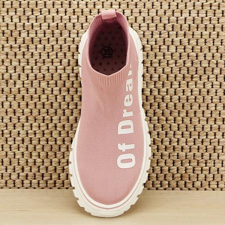 Sneakers copii roz tip soseta Dream [6]