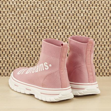 Sneakers copii roz tip soseta Dream [3]