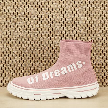 Sneakers copii roz tip soseta Dream [0]