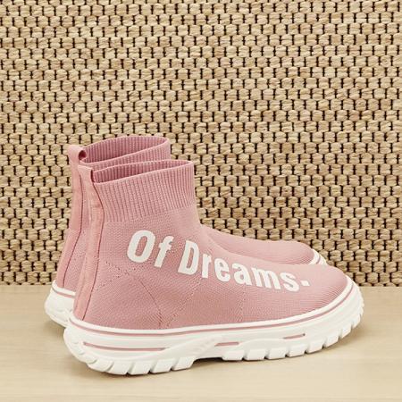 Sneakers copii roz tip soseta Dream [4]