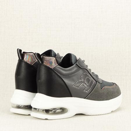Sneakers gri High-Top Luna5