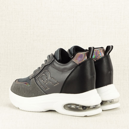 Sneakers gri High-Top Luna4