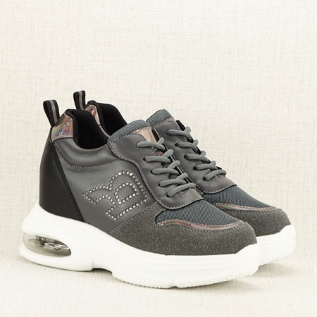 Sneakers gri High-Top Luna3