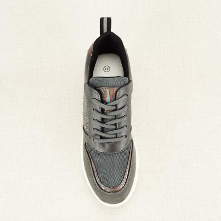 Sneakers gri High-Top Luna1