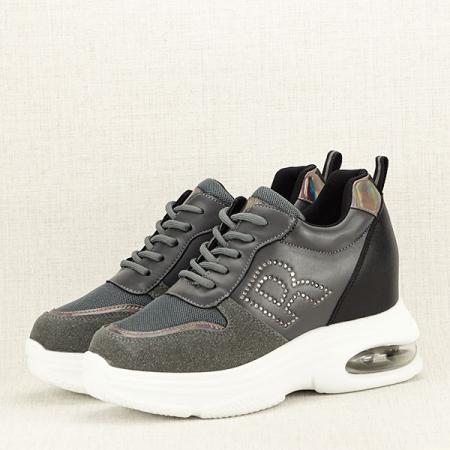 Sneakers gri High-Top Luna2
