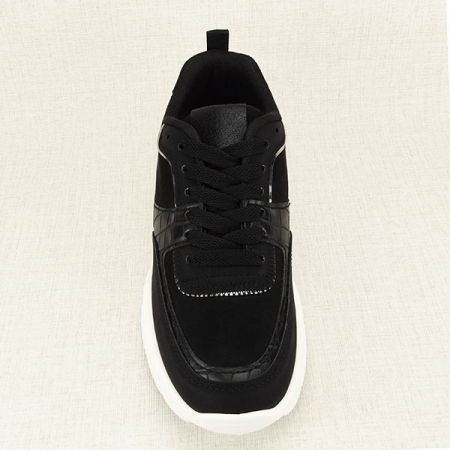 Sneakers negru cu imprimeu Georgia [1]