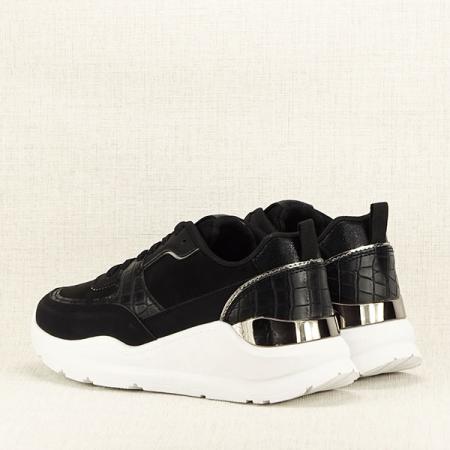 Sneakers negru cu imprimeu Georgia [5]