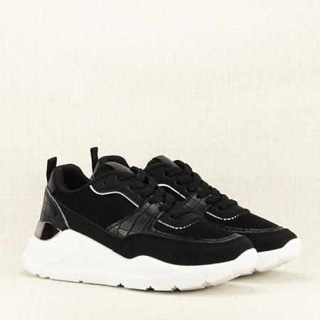 Sneakers negru cu imprimeu Georgia [3]