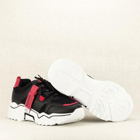Sneakers negri cu rosu Ioana [7]