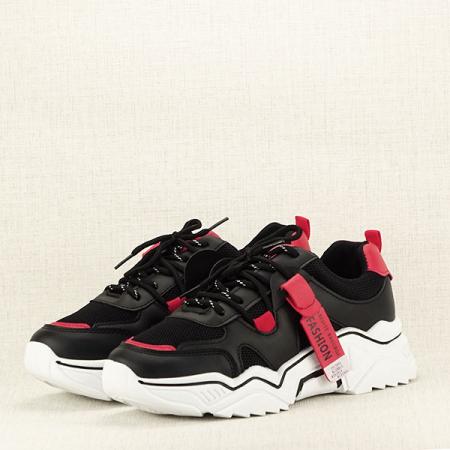 Sneakers negri cu rosu Ioana [2]