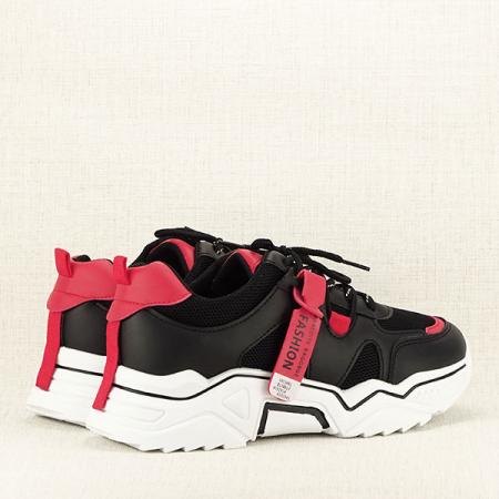 Sneakers negri cu rosu Ioana [5]