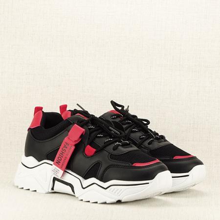 Sneakers negri cu rosu Ioana [3]
