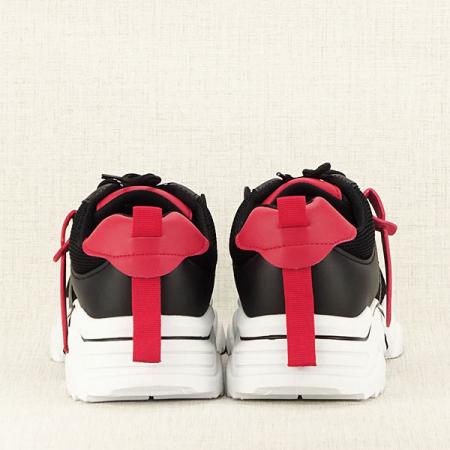 Sneakers negri cu rosu Ioana [6]