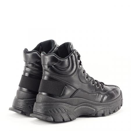 Sneakers negri cu talpa groasa Betty4
