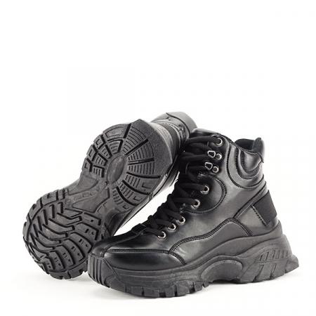 Sneakers negri cu talpa groasa Betty7